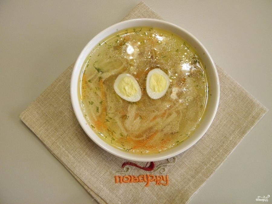 Куриный суп с домашней лапшой - фото шаг 16