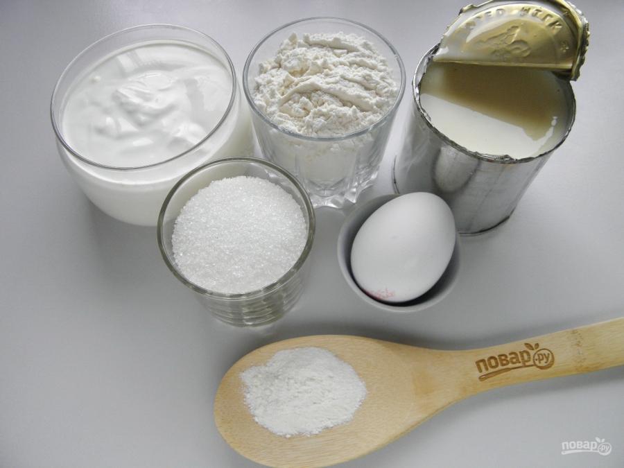 Быстрый торт на сковороде со сгущенкой - фото шаг 1