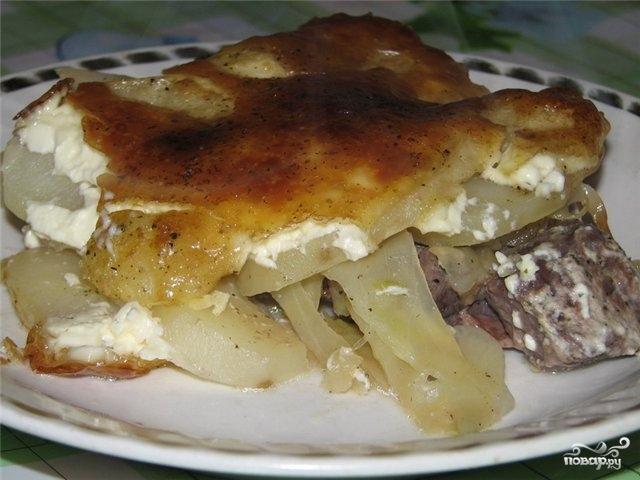 Говядина с капустой в духовке