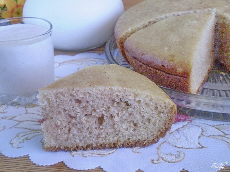 Рецепт манника на кефире классический с фото пошагово без масла