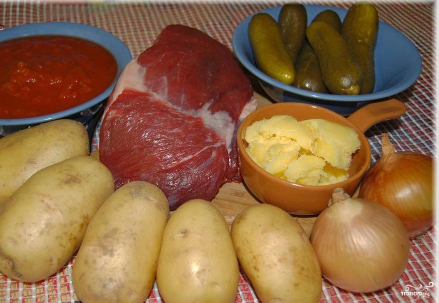 Как приготовить мясо по татарски