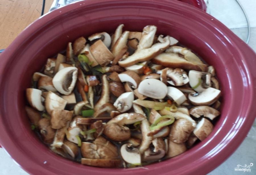 Постный грибной суп из замороженных грибов - фото шаг 3