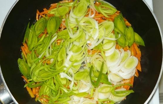 Куриный суп с омлетом - фото шаг 6