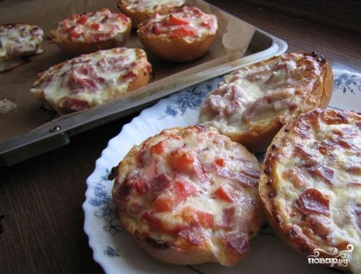 Мини пицца на скорую руку