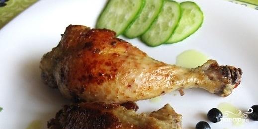 Курица в мультиварке жареная