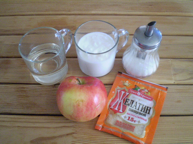 Рецепт Диетическое желе из фруктов