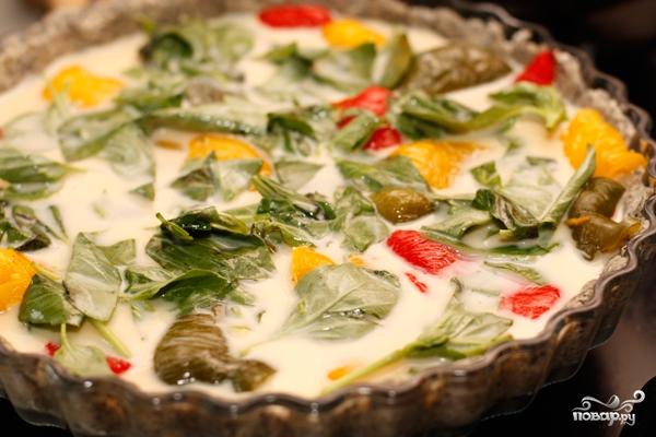 Пирог с разноцветным перцем - фото шаг 9