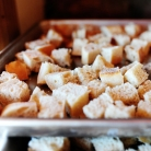 Рецепт Жареный хлеб с устрицами и овощами
