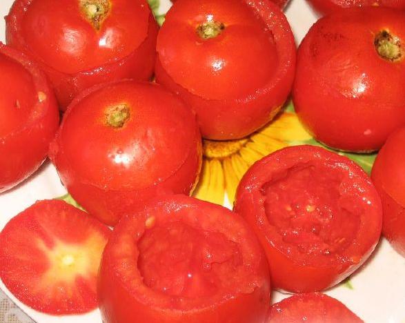 Рецепт Помидоры, фаршированные фаршем и грибами