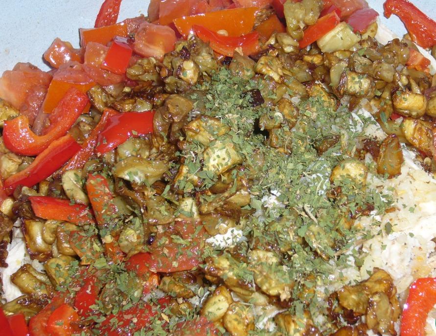 Курица с баклажанами и рисом - фото шаг 6