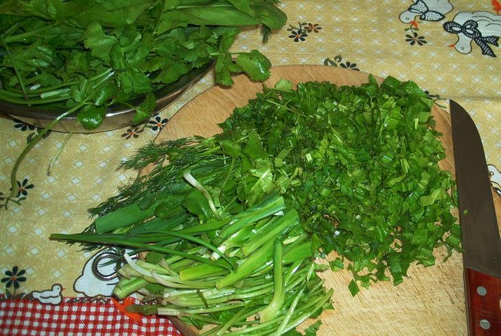 Рецепт Кюкю из зелени
