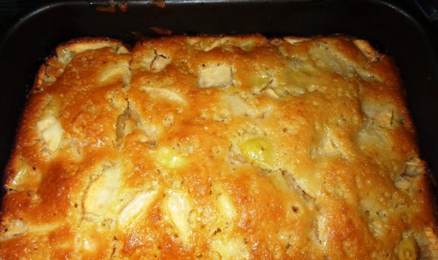 Рецепт пышной шарлотки с яблоками в духовке на кефире пошагово