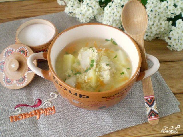 Суп на рыбном бульоне