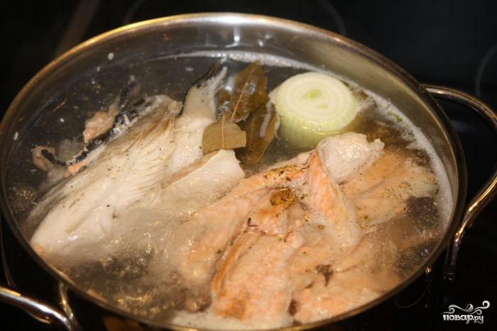 Суп из головы форели рецепт с фото
