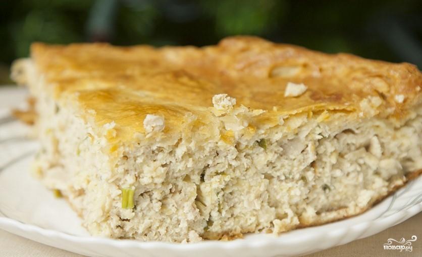Пирог с индейкой и сыром