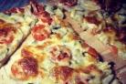 Пицца с сыром сулугуни