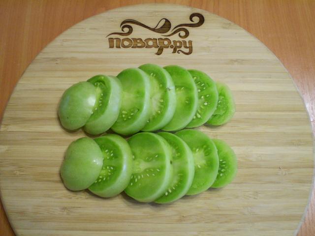 Жареные зеленые помидоры - фото шаг 2