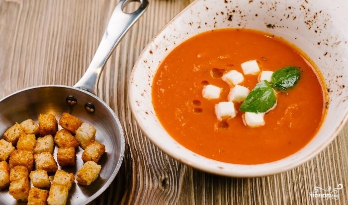 Томатный суп-пюре с моцареллой - фото шаг 4