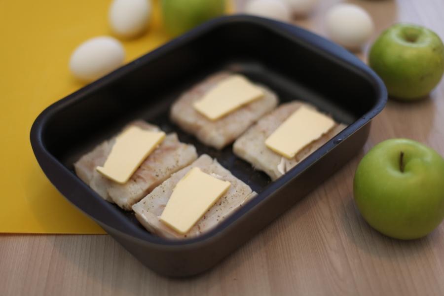 Рецепт Треска под польским соусом