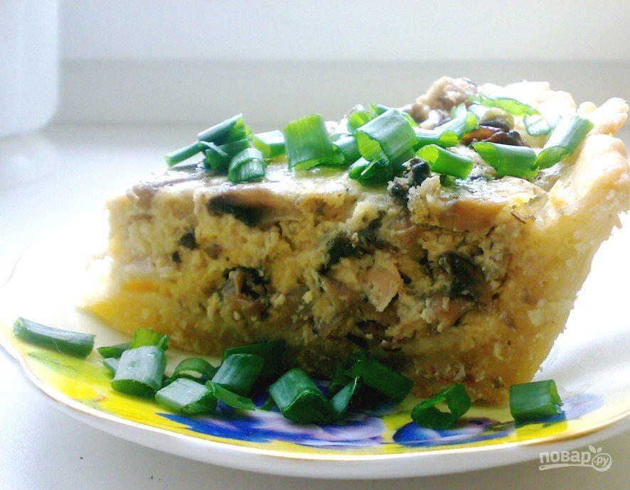 пирог слоеный с курицей и грибами пошаговый рецепт с фото