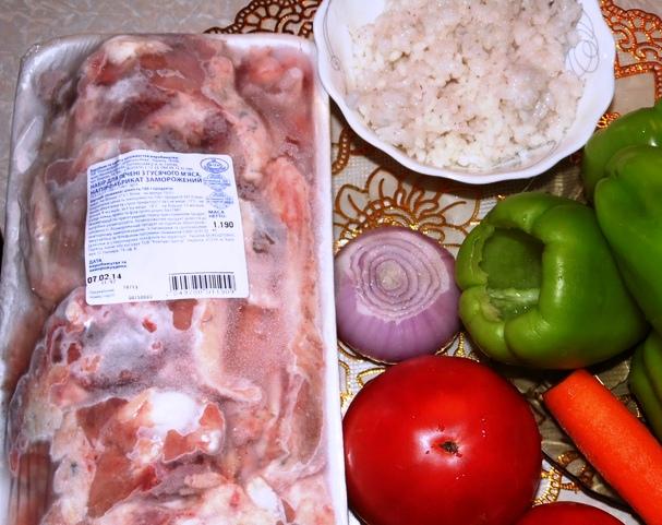 Рецепт Перец на зиму, фаршированный мясом
