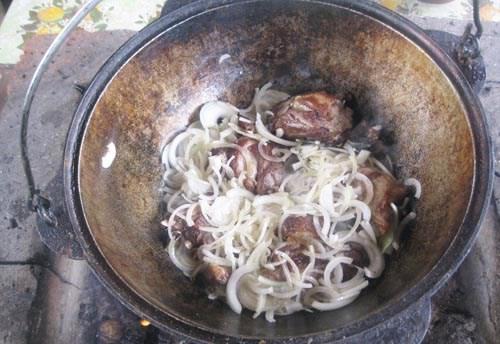 как приготовить лагман из говядины на костре
