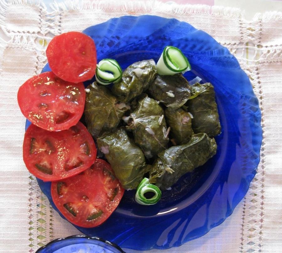 долма рецепт приготовления из свежих листьев винограда