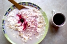 Овсянка с творогом на завтрак