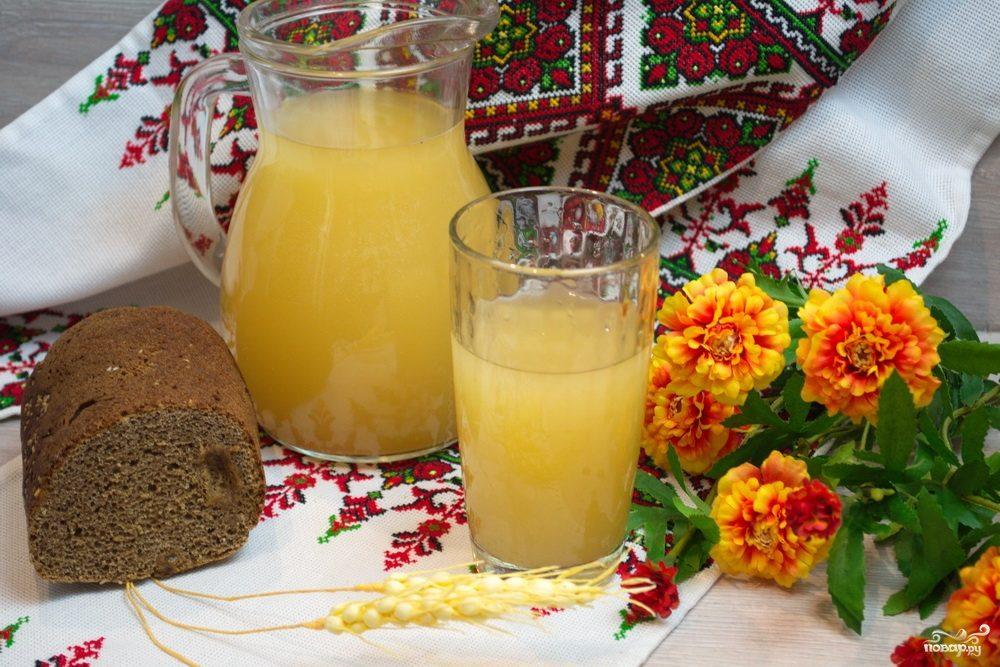 Квас из бородинского хлеба
