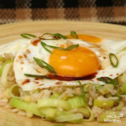 Жареный рис с имбирем - фото шаг 3
