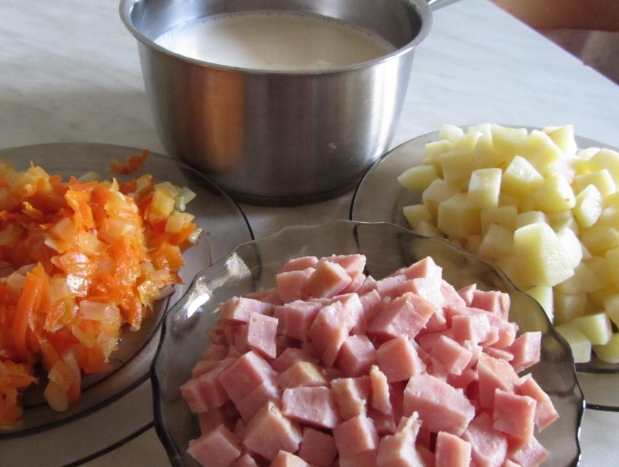 Сырный суп в хлебе - фото шаг 2