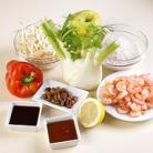 Рецепт Рис с овощами, укропом и креветками