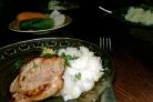 Свинина жареная с картофельным пюре