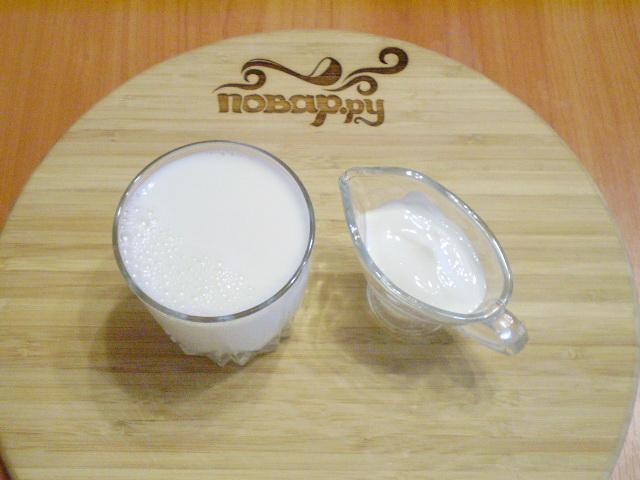 Рецепт Домашний кефир из молока