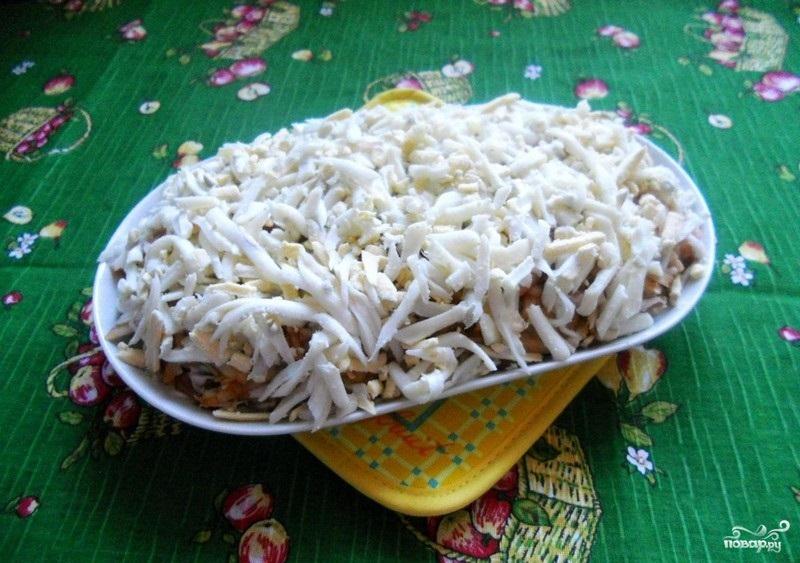 Салат с рисом и мидиями