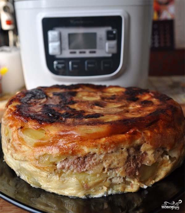 """Картофельная запеканка в мультиварке """"Поларис"""""""