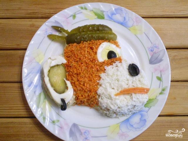 "Салат ""Обезьянка"" с корейской морковкой - фото шаг 11"
