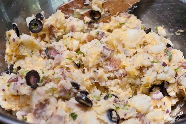 Теплый салат с беконом - фото шаг 9