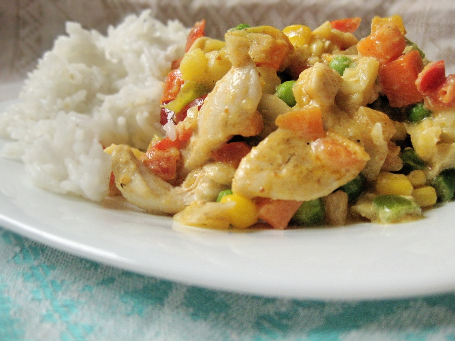 Курица с овощами и рисом - фото шаг 5