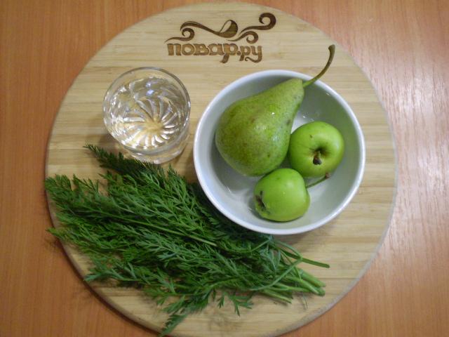 Рецепт Зеленый коктейль с грушей