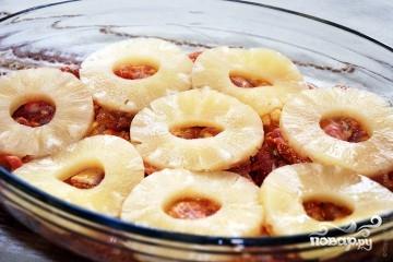 Куриные отбивные с ананасом и сыром в духовке - фото шаг 3