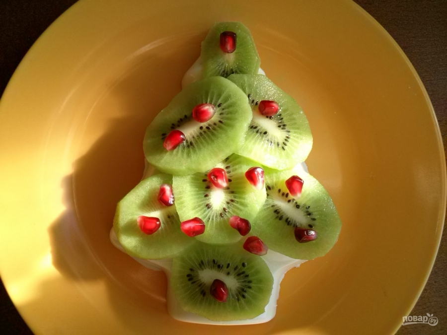 Десерт в форме елки  - фото шаг 8