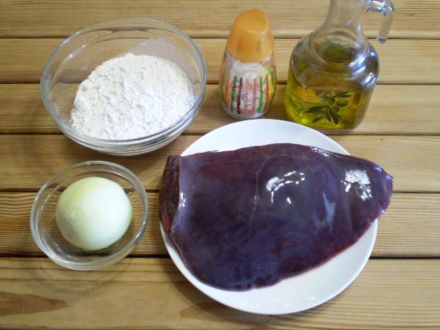 Рецепт Жареная печень с луком