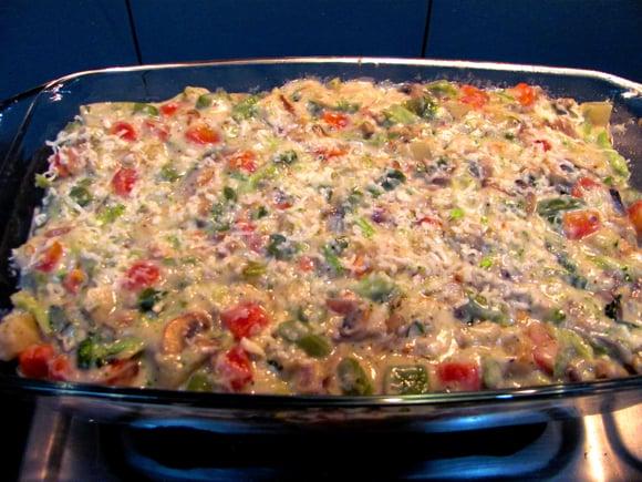 Овощи в духовке под сыром - фото шаг 3