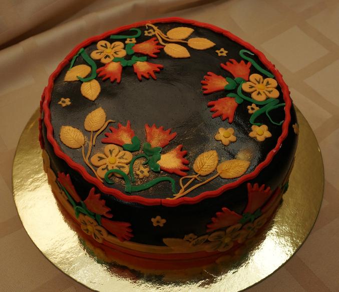 "Торт ""Хохлома"" - фото шаг 4"