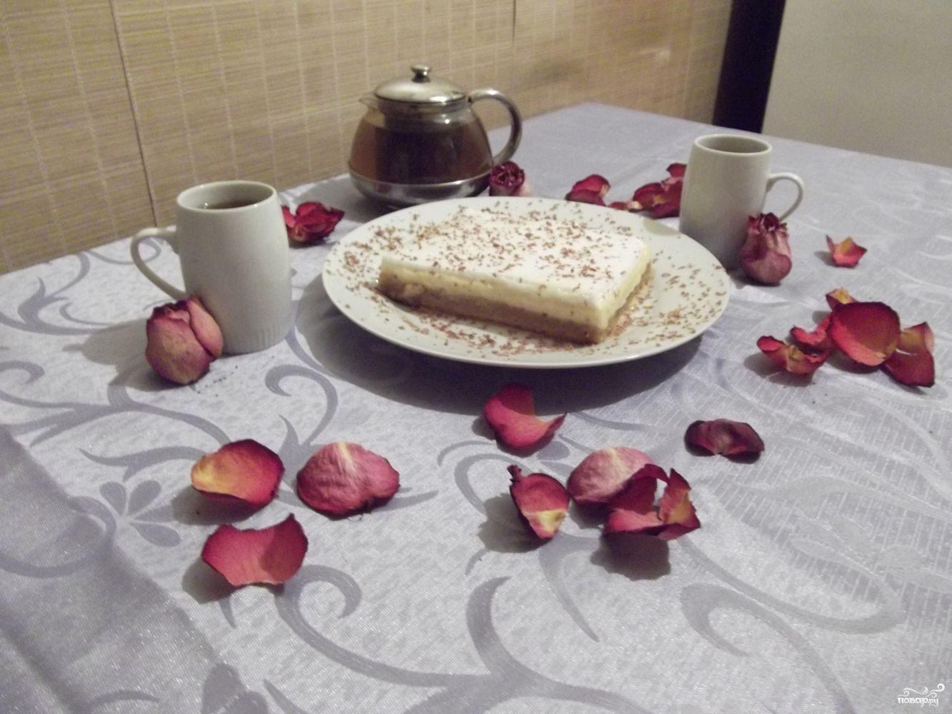 Лимонный торт с меренгой