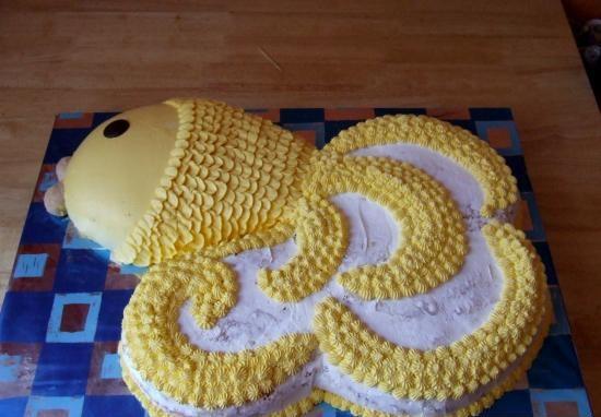 "Торт ""Золотая рыбка"" - фото шаг 6"