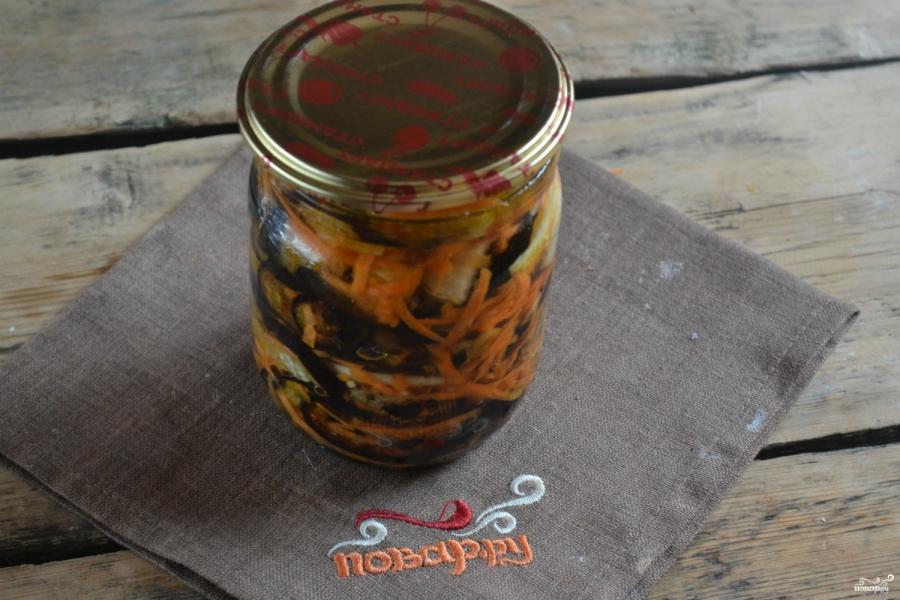 Маринованные баклажаны с морковкой и луком - фото шаг 6