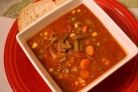 Летний суп с мясом