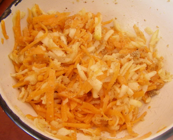 Салат из тыквы с яблоком - фото шаг 5